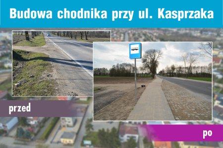 Wykonano II etap budowy chodnika przy ul. Kasprzak
