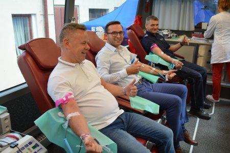 Policjanci z Ciechanowa ponownie zbierali krew
