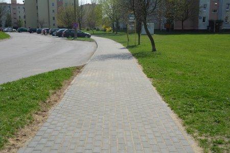 Wyremontowany chodnik przy ul. Szwanke