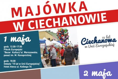 Majówka w Ciechanowie: piknik, debata, gra miejsk