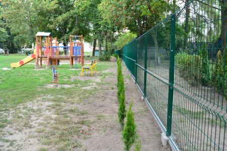 Nowe ogrodzenie na terenie Miejskiego Przedszkola