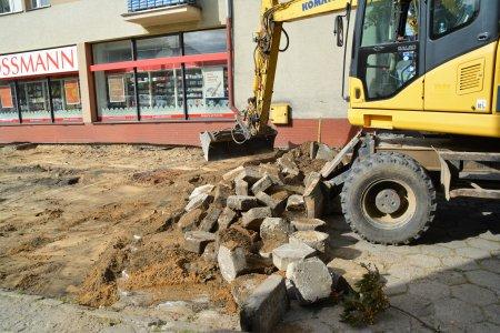 Rozpoczęła się modernizacja terenu za Rossmanne