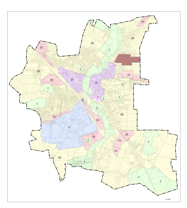 Mapka z podziałem na strefy o różnych przepisach w sprawie umieszczania instalacji reklamowych
